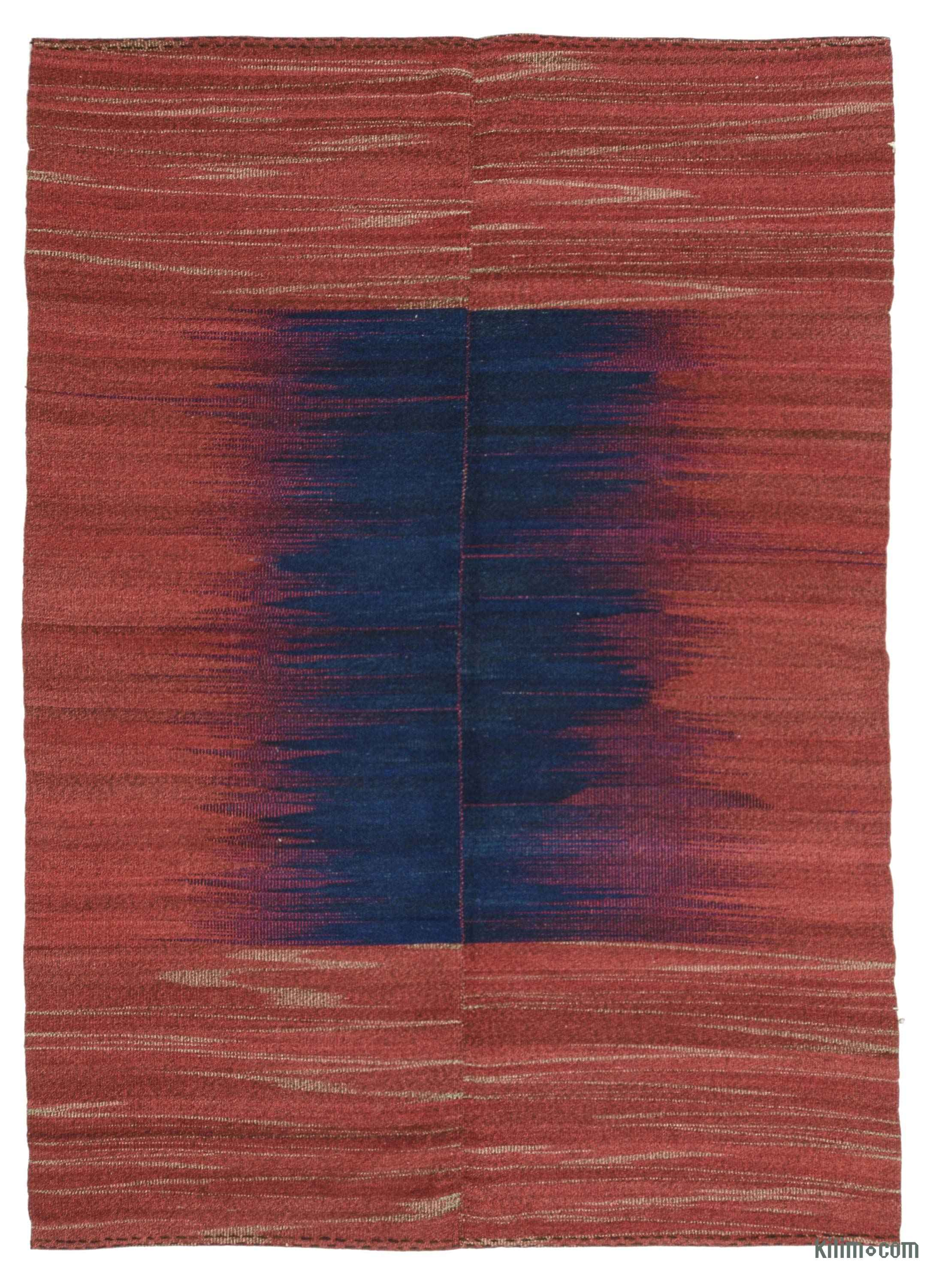 Red Blue Neo Caspian Kilim Rug
