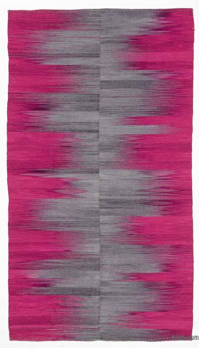 Purple, Grey Neo Caspian Kilim Rug