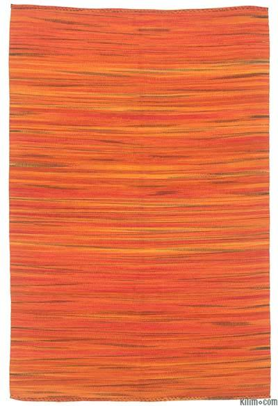 Orange Neo Caspian Kilim Rug