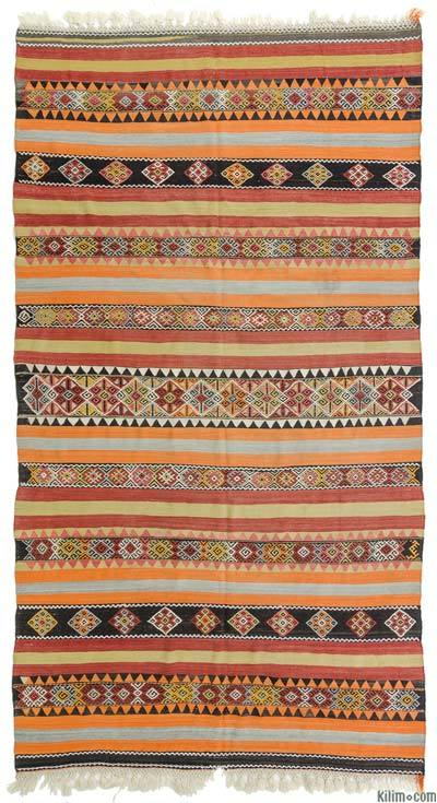 Orange Vintage Sivas Kilim Rug - 6' x 10'11'' (72 in. x 131 in.)