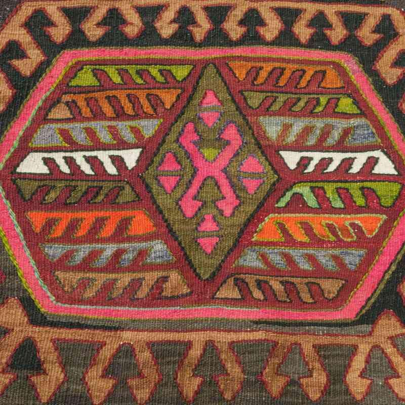 K0010576 Green Multicolor Vintage Sivrihisar Kilim Rug