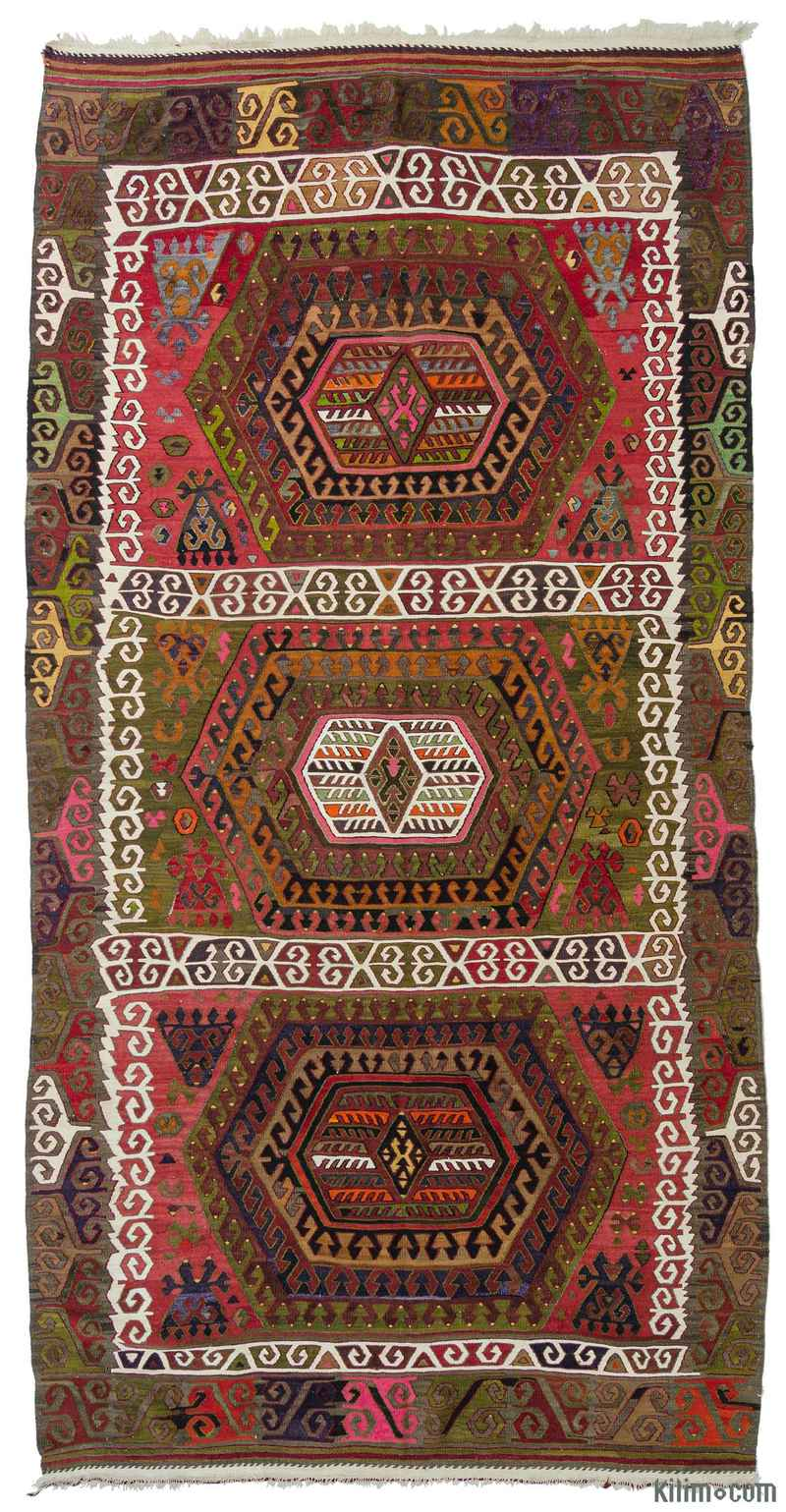 k0010576 green multicolor vintage sivrihisar kilim rug. Black Bedroom Furniture Sets. Home Design Ideas