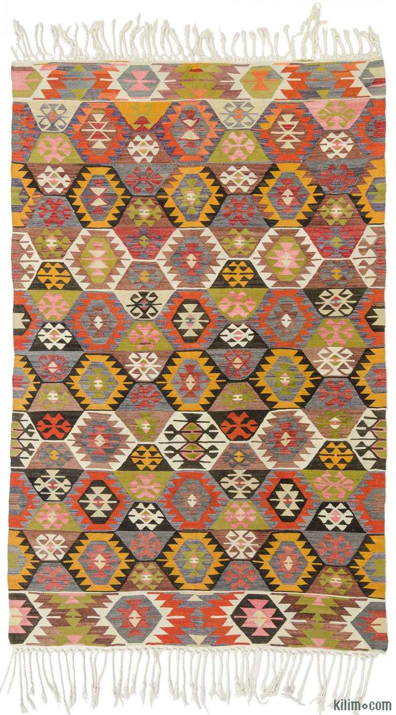 k0010578 multicolor vintage tavas kilim rug. Black Bedroom Furniture Sets. Home Design Ideas