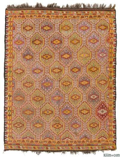 Turkish Vintage 'Zili' Rug