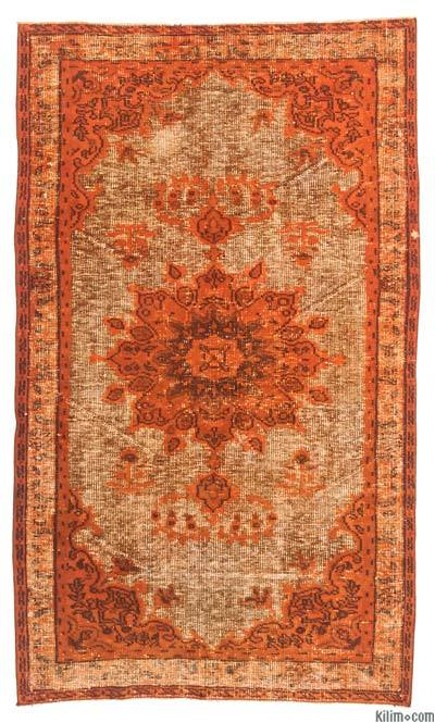 "Hand Carved Over-Dyed Rug - 3'11"" x 6'8"" (47 in. x 80 in.)"