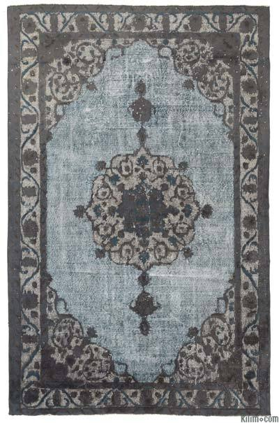 "Hand Carved Over-Dyed Rug - 6'8"" x 10' (80 in. x 120 in.)"
