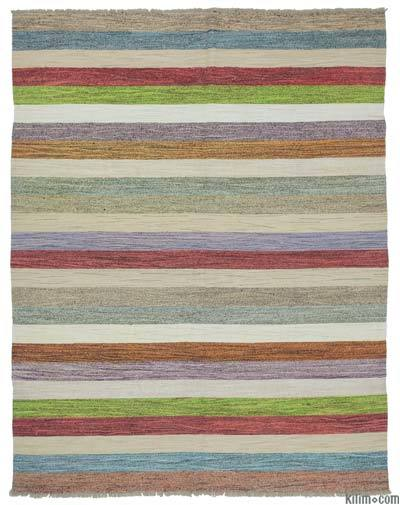 Multicolor Old Yarn Kilim Rug