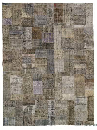 Over-dyed Turkish Patchwork Rug - 9' x 11'10'' (108 in. x 142 in.)