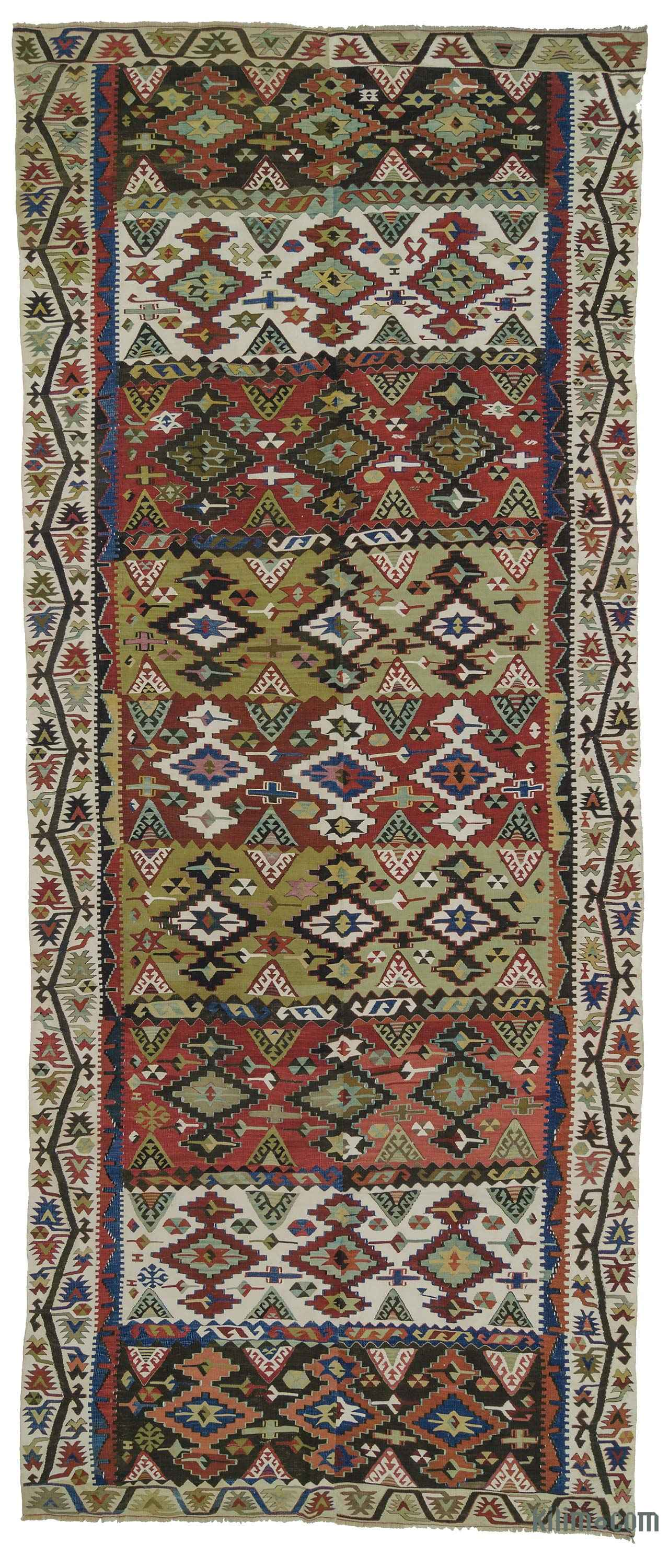 K0010748 Red Antique Malatya Kilim Rug