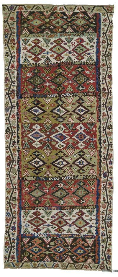 Red Antique Malatya Kilim Rug