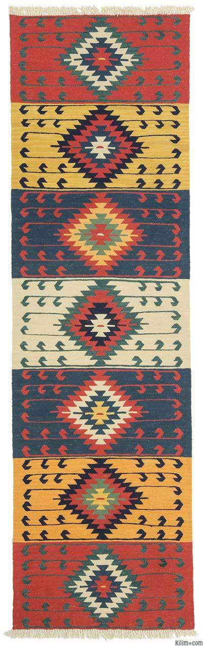 New Turkish Kilim Runner Rug   K0010796