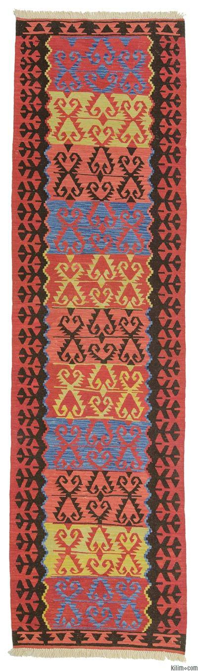 Red New Turkish Kilim Runner Rug