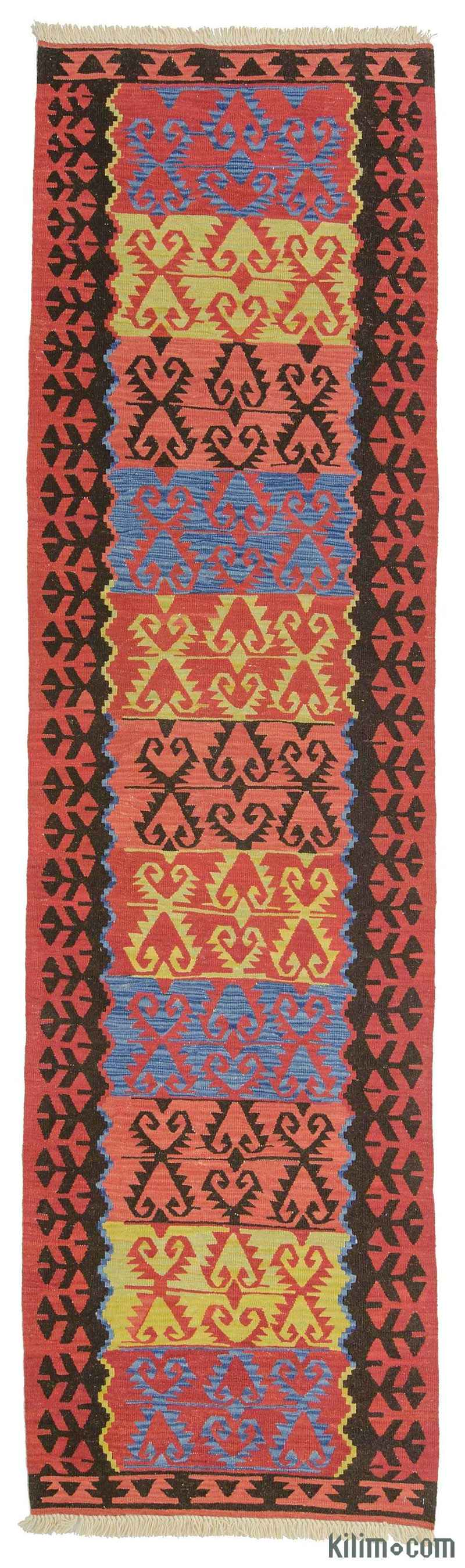 k0010798 red new turkish kilim runner rug. Black Bedroom Furniture Sets. Home Design Ideas