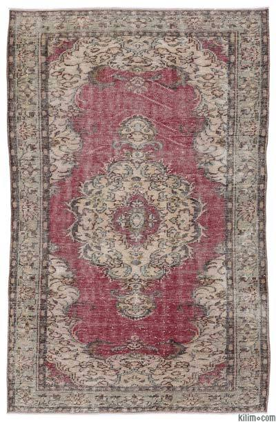 Turkish Vintage Area Rug - 4'11'' x 7'10'' (59 in. x 94 in.)