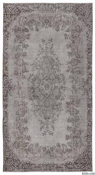 Over-dyed Turkish Vintage Rug - 5'4'' x 10'2'' (64 in. x 122 in.)