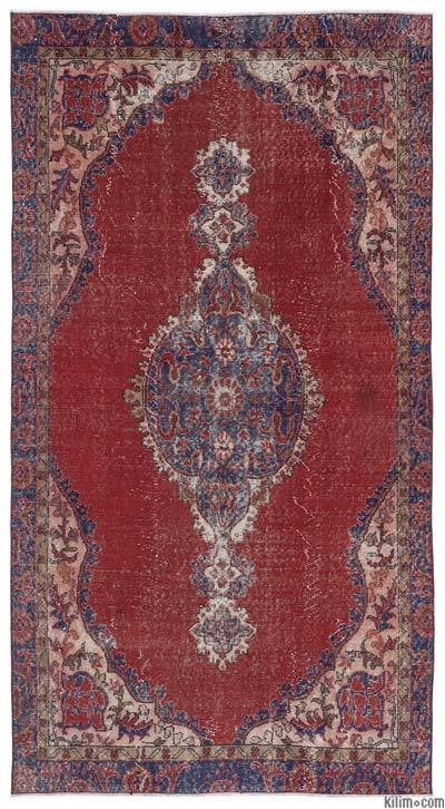 Turkish Vintage Area Rug - 4'10'' x 9'1'' (58 in. x 109 in.)
