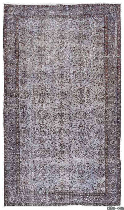 "Over-dyed Turkish Vintage Rug - 5'8"" x 10' (68 in. x 120 in.)"