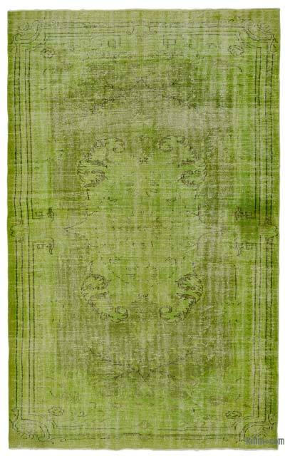 Green Over-dyed Turkish Vintage Rug - 5'11'' x 9'8'' (71 in. x 116 in.)