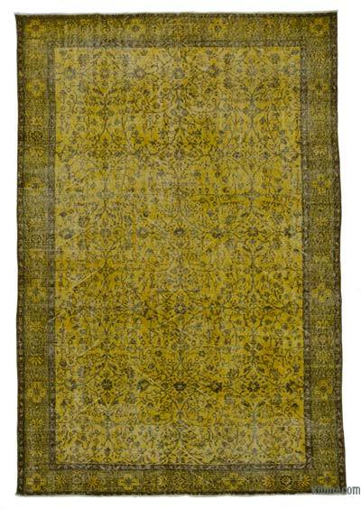 "Over-dyed Turkish Vintage Rug - 6'3"" x 9'5"" (75 in. x 113 in.)"