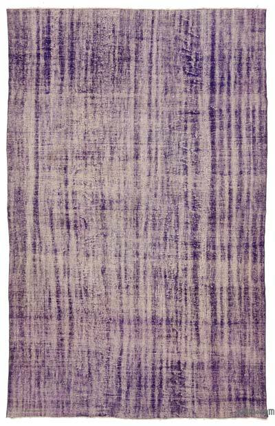 Purple Over-dyed Turkish Vintage Rug - 7'10'' x 12'4'' (94 in. x 148 in.)