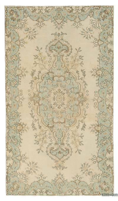Turkish Vintage Area Rug - 4' x 7'1'' (48 in. x 85 in.)