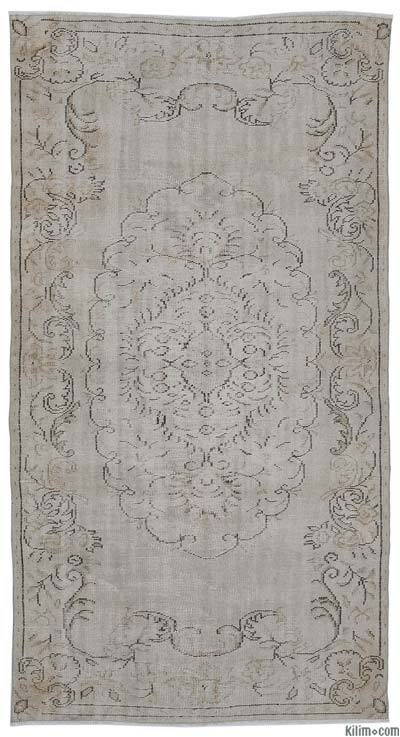 Turkish Vintage Area Rug - 4'11'' x 9'2'' (59 in. x 110 in.)