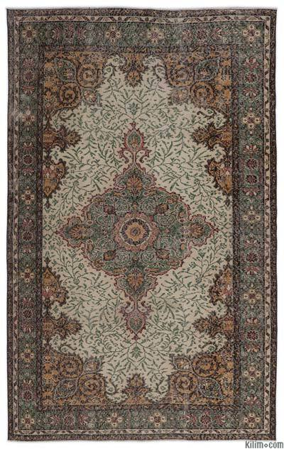 Turkish Vintage Rug - 5'5'' x 8'8'' (65 in. x 104 in.)