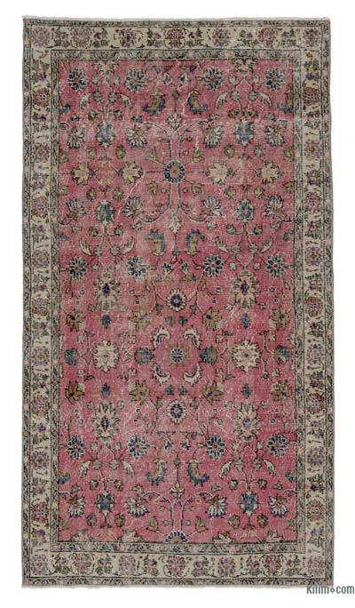 Turkish Vintage Area Rug - 3'9'' x 6'11'' (45 in. x 83 in.)