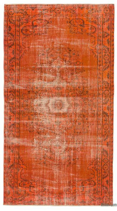 "Over-dyed Turkish Vintage Rug - 4'10"" x 9' (58 in. x 108 in.)"