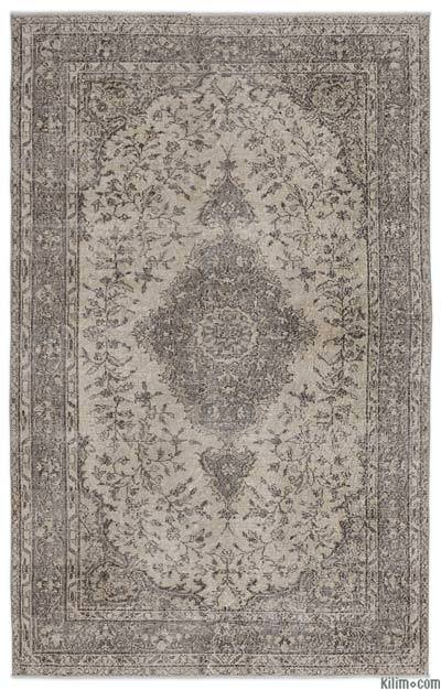 "Over-dyed Turkish Vintage Rug - 5'5"" x 8'7"" (65 in. x 103 in.)"