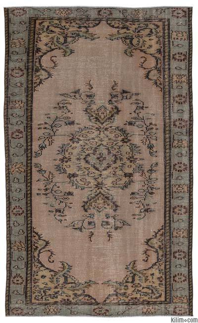 Over-dyed Turkish Vintage Rug - 5'5'' x 8'11'' (65 in. x 107 in.)
