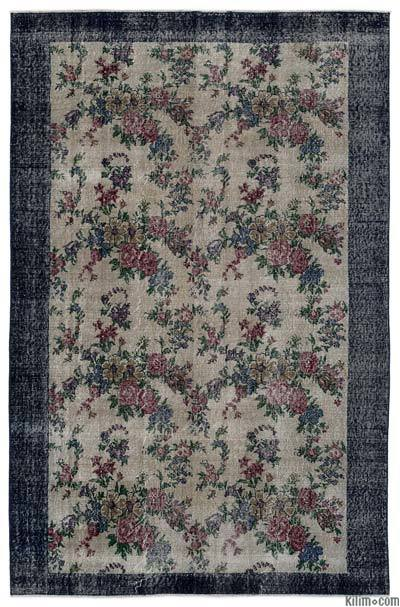Turkish Vintage Area Rug - 5' x 7'8'' (60 in. x 92 in.)