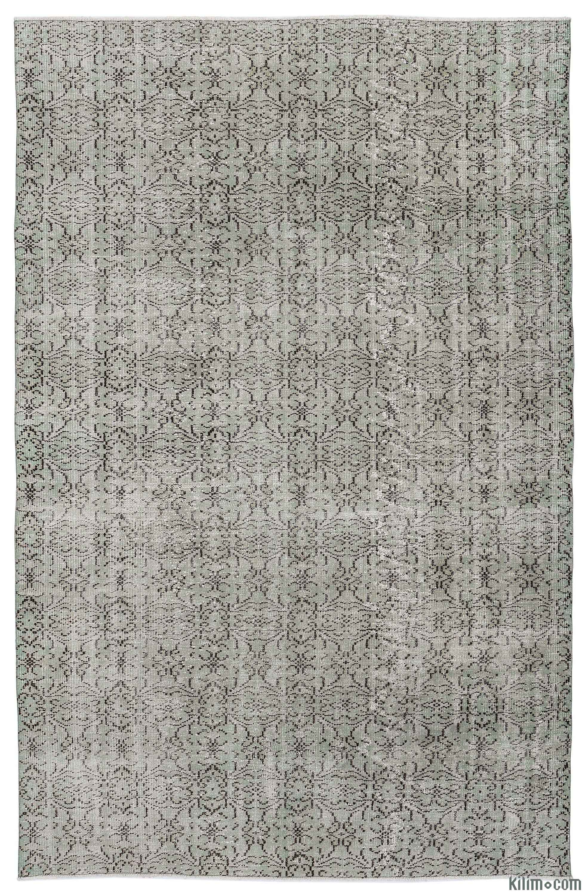 Turkish Vintage Area Rug - 6'3'' x 9'8'' (75 in  x 116 in )