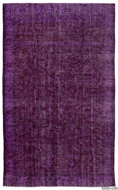 "Over-dyed Turkish Vintage Rug - 6'1"" x 9'9"" (73 in. x 117 in.)"