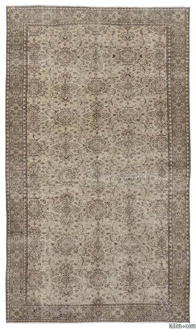 "Over-dyed Turkish Vintage Rug - 5'7"" x 9'5"" (67 in. x 113 in.)"