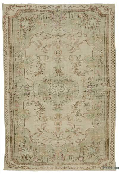 Turkish Vintage Area Rug - 6'1'' x 8'11'' (73 in. x 107 in.)