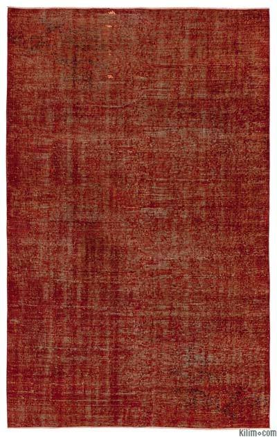"Over-dyed Turkish Vintage Rug - 5'4"" x 8'8"" (64 in. x 104 in.)"