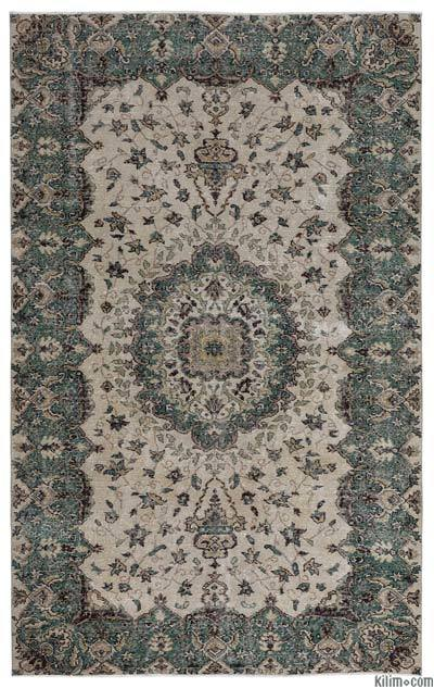 "Turkish Vintage Area Rug - 5'6"" x 8'10"" (66 in. x 106 in.)"