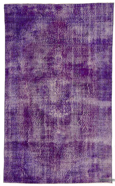 Purple Over-dyed Turkish Vintage Rug - 5'11'' x 9'10'' (71 in. x 118 in.)