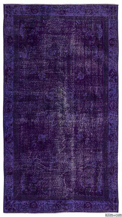 "Over-dyed Turkish Vintage Rug - 5' x 9'2"" (60 in. x 110 in.)"