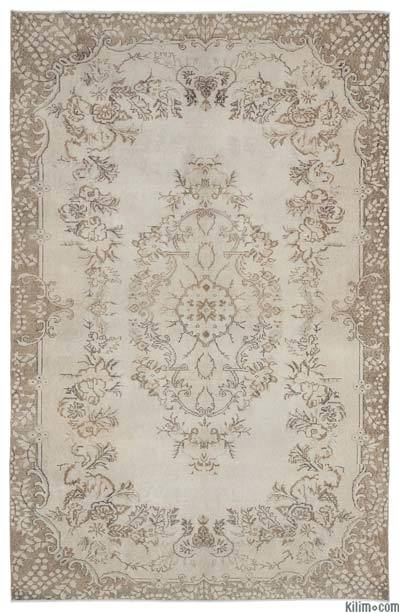 Over-dyed Turkish Vintage Rug - 6'8'' x 10'5'' (80 in. x 125 in.)
