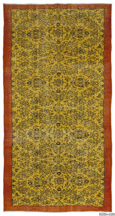 "Over-dyed Turkish Vintage Rug - 4'8"" x 9' (56 in. x 108 in.)"