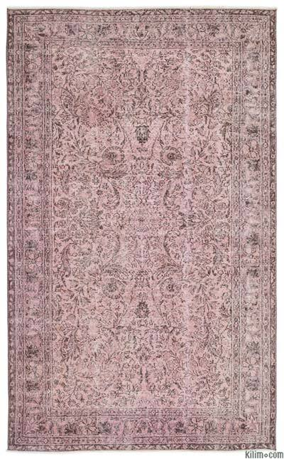 "Over-dyed Turkish Vintage Rug - 5'5"" x 8'11"" (65 in. x 107 in.)"