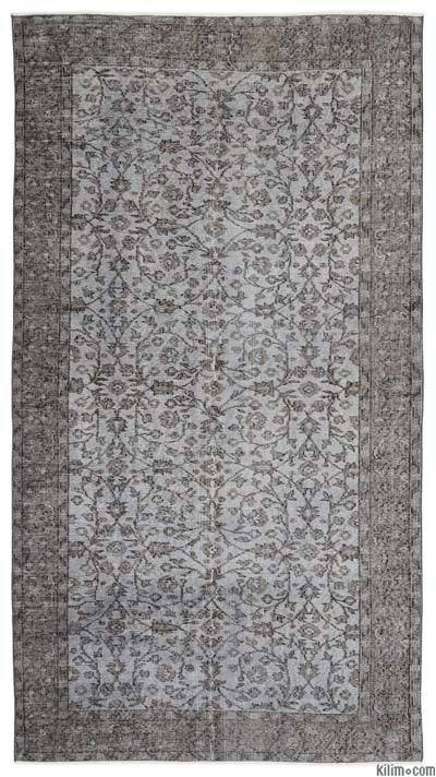 Turkish Vintage Area Rug - 4'10'' x 8'9'' (58 in. x 105 in.)