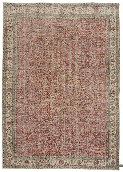 "Turkish Vintage Area Rug - 7'1"" x 10'5"" (85 in. x 125 in.)"