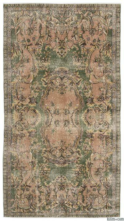 "Turkish Vintage Area Rug - 4'11"" x 9'4"" (59 in. x 112 in.)"
