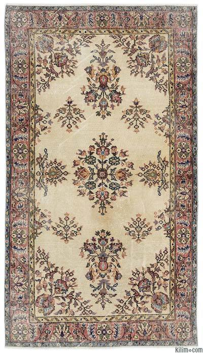 Turkish Vintage Area Rug - 3'10'' x 6'9'' (46 in. x 81 in.)