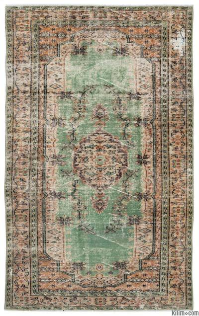 Turkish Vintage Area Rug - 4'11'' x 8'2'' (59 in. x 98 in.)