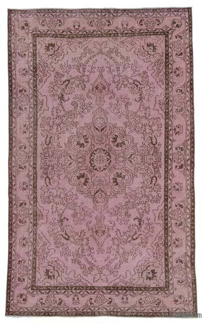 Pink Over-dyed Turkish Vintage Rug - 5'11'' x 9'10'' (71 in. x 118 in.)