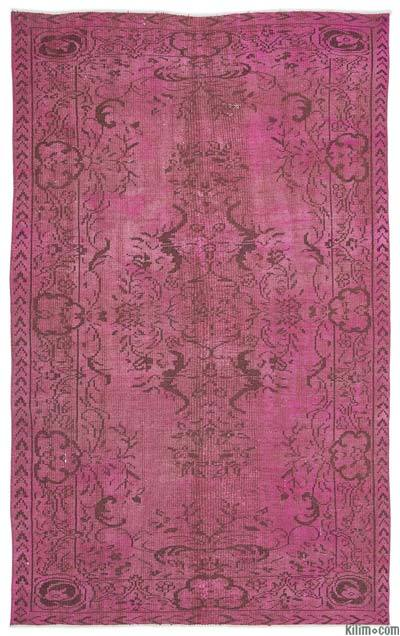 Pink Over-dyed Turkish Vintage Rug - 5'10'' x 9'2'' (70 in. x 110 in.)
